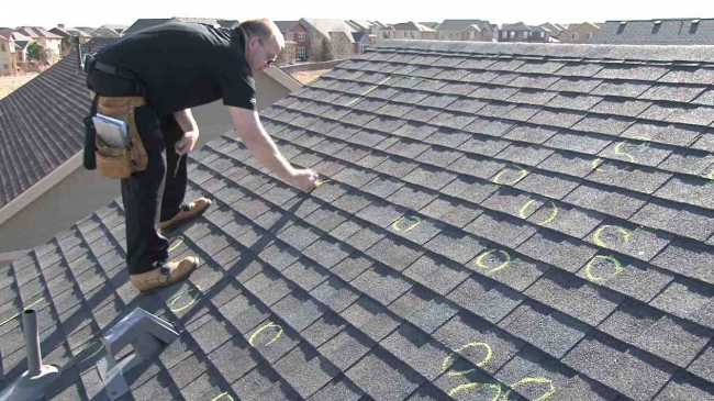 Roof Damage Insurance Inspection
