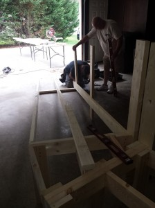 The beginning of our ramp project.
