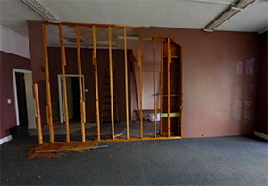 Click the image to see a virtual tour of this space BEFORE we worked on it.