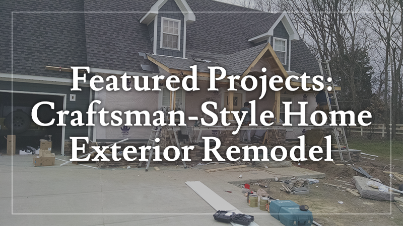 Featured Projects CraftsmanStyle Home Exterior Remodel L L Beauteous Home Exterior Remodel Collection