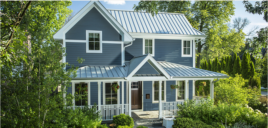 Blue Exterior Siding Color