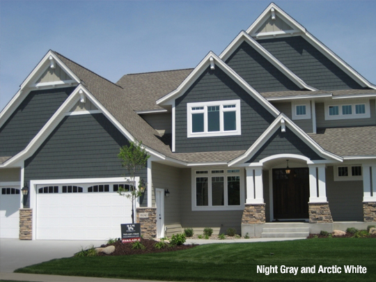 5 most popular home siding colors in 2019 l l contractors - Houses with white trim ...